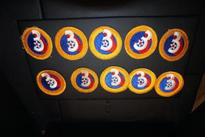 10 Original 3rd Army Air Force patches