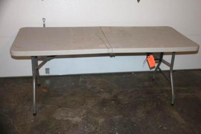 "Plastic folding table 30"" W x 72"" L"