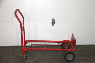4-wheel dolly, hard rubber tires