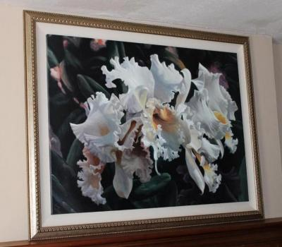 Iris oil painting on canvas by Michael Gerry