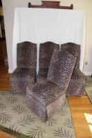 4 animal print dining chairs