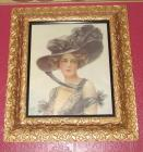 Framed Victorian lady print