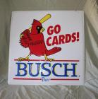 Go Cards! Busch metal sign