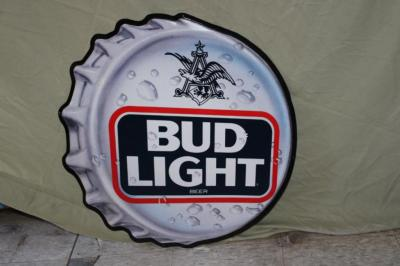 Bud Light metal sign