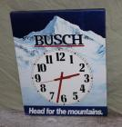 Busch metal battery-operated clock
