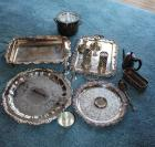 Trays, ice bucket, candle holders