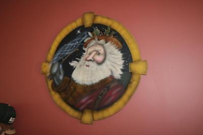 Wooden Santa wall art