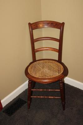 Vintage woven bottom chair