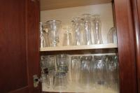 Assorted glasses and stemware