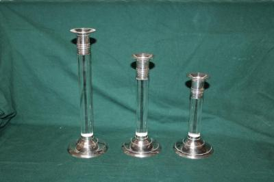 Trio of candlesticks