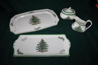 "Spode ""Christmas Tree"" pieces"