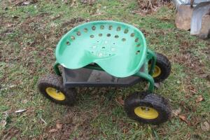 Garden seat on wheels