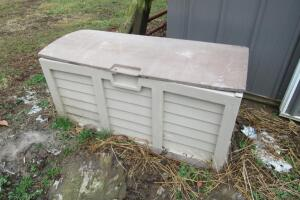 Plastic storage bin, damage to lid