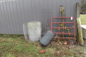 "44"" W gate, t-posts with insulators"