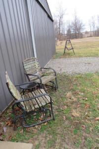 Steel frame lawn furniture