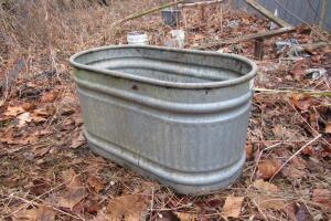 Galvanized stock tank