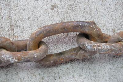 9' +/- L heavy duty log chain with dual hooks