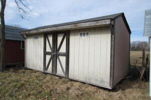 Masonite sided shed