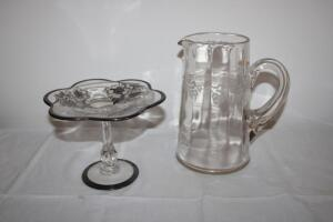 Embossed water pitcher