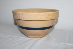 Yellowware crock bowl