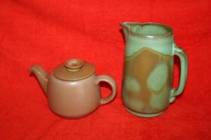 Frankoma pitcher and teapot