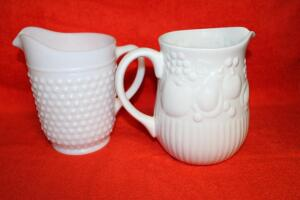 Milk Glass & Libbey pitchers