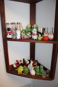 Large collection of salt and pepper shakers
