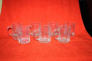 7 glass octagon mugs