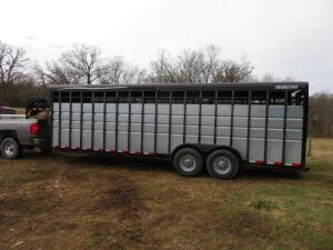 2007 Travalong Advantage 24' Livestock Trailer