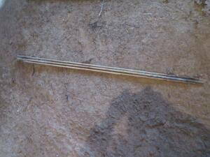 Three - 6' Galvanized Ground Rods