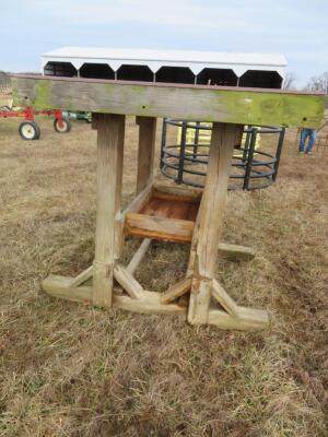 Homemade Wood Mineral Feeder