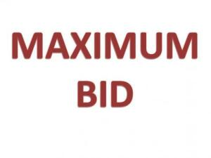 MAXIMUM BIDDING