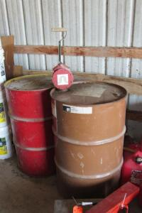 2 metal 55 gallon empty drums