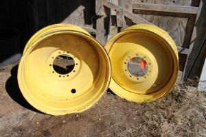 2 unmounted tractor duals, wheels are 16x38
