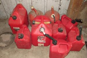 Plastic gas cans