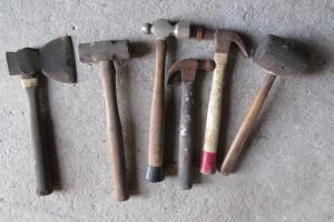 Wood handled hammers, claw