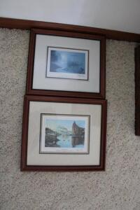 "Framed and matted print Lewis and Clark ""Foggy Morning on the Missouri River 1804"""