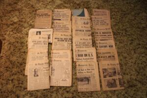 St. Louis Globe Democrat newspapers from WWII