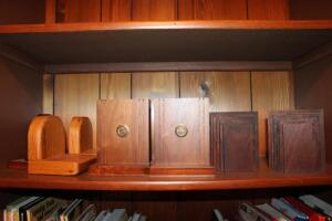 University of Missouri wooden bookends