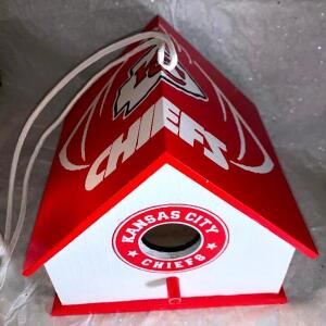 Kansas City Chiefs Birdhouse