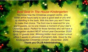 Best Seat In The House-Kindergarten