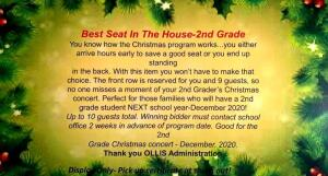 Best Seat In The House-2nd Grade