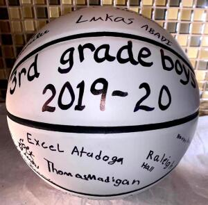 3rd Grade Boys MMYBA Signed Basketball
