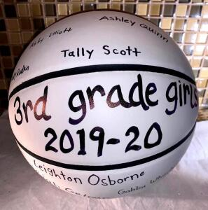 3rd Grade Girls MMYBA Signed Basketball