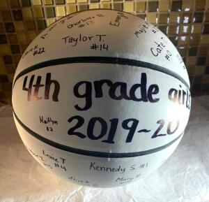 4th Grade Girls MMYBA Signed Basketball