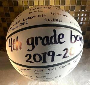 4th Grade Boys MMYBA Signed Basketball