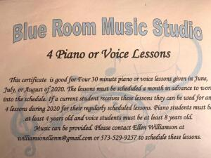Piano or Voice Lessons