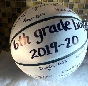 6th Grade PALS Boys Signed Basketball