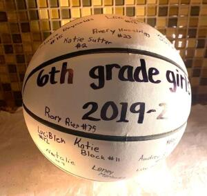 6th Grade PALS Girls Signed Basketball