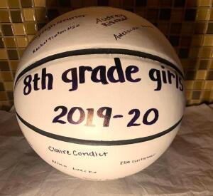 8th Grade Girls Signed Basketball